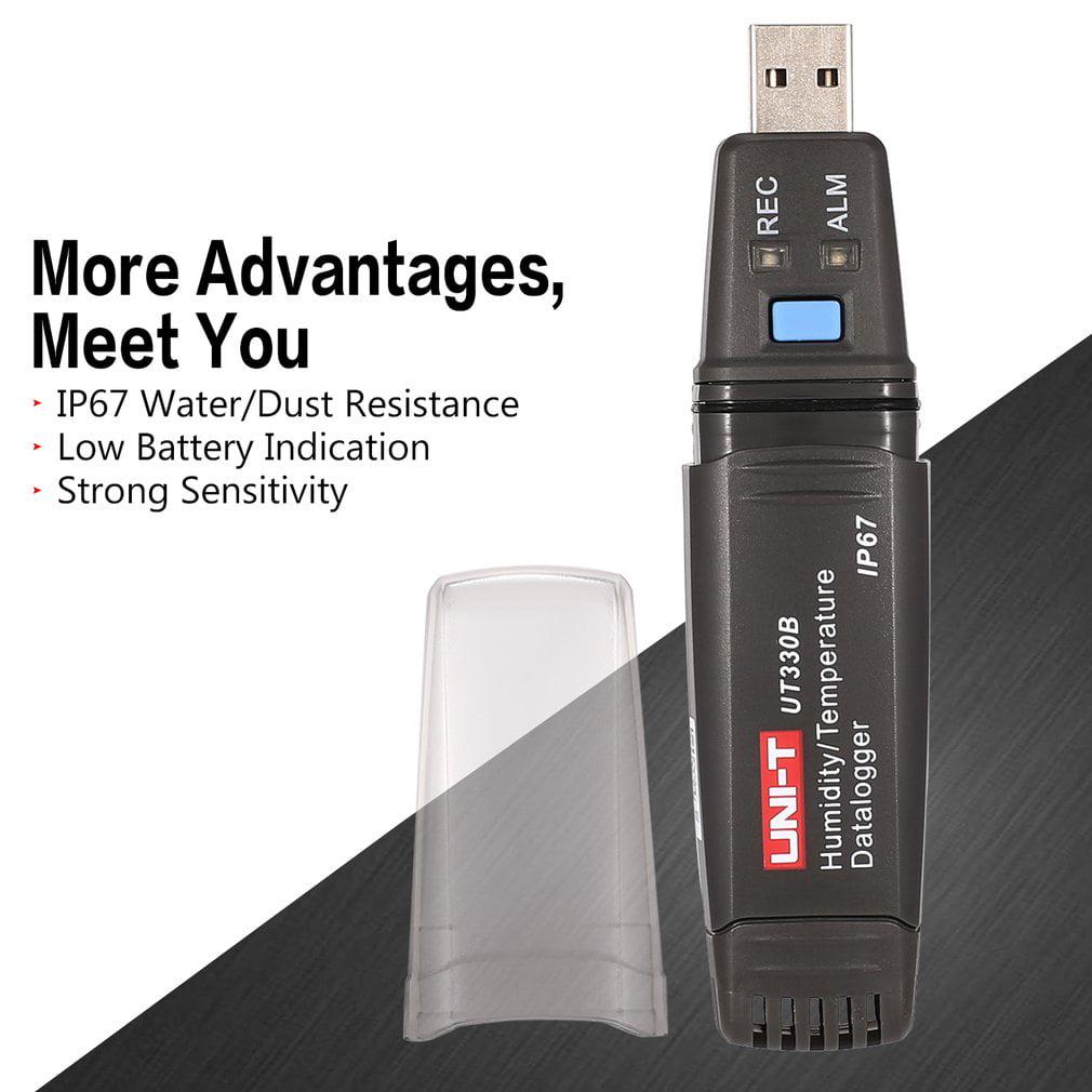 UNI-T UT330B USB Humidity Temperature Recorder TEMP/RH Data Logger Thermometer Hygrometer Moisture Tester Meter -40℃~80℃