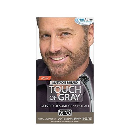 Touch Of Gray Best Mustache & Beard Color To Reduce Gray - Light & Medium