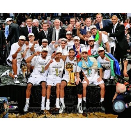 The San Antonio Spurs Celebrate Game 5 Of The 2014 Nba Finals Sports Photo
