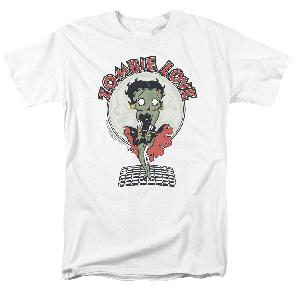 Betty Boop/Breezy Zombie Love S/S Adult 18/1   White     Bb798
