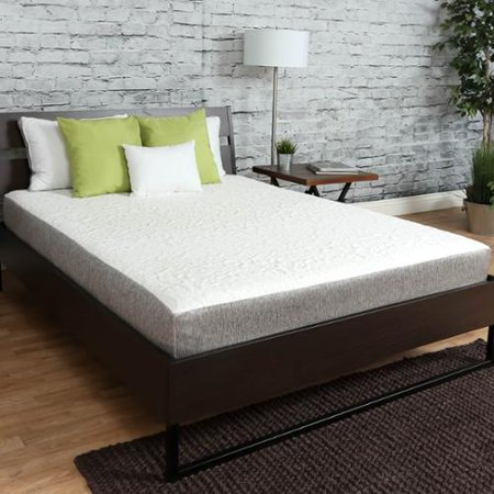 Graphite Firm Shaft - Somette  Firm 8 inch full size Graphite Gel Memory Foam Mattress