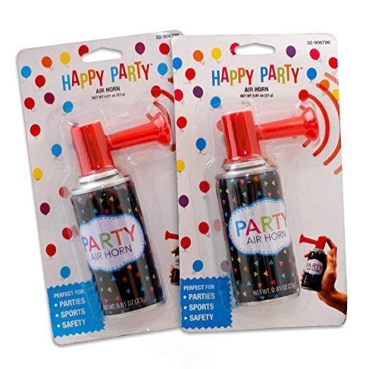 Hand Held Air Horn /& Air Inflator Non Gas Party Sport Events Dual Purpose