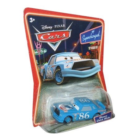 Disney Pixar Cars Movie Dinoco Chick Hicks Supercharged Blue Die Cast Car Toy