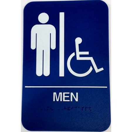 DONJO MFG INC Mens Handicap Restroom Sign Walmartcom - Handicap bathroom sign