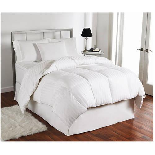 Sateen 400 Thread Count Down Comforter, Year Around Warmth, White
