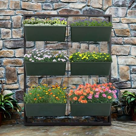 Kinbor Vertical Wall Elevated Raised Garden Bed Vegetables Herbs Flowers Gowning Planters Vertical Raised Panel