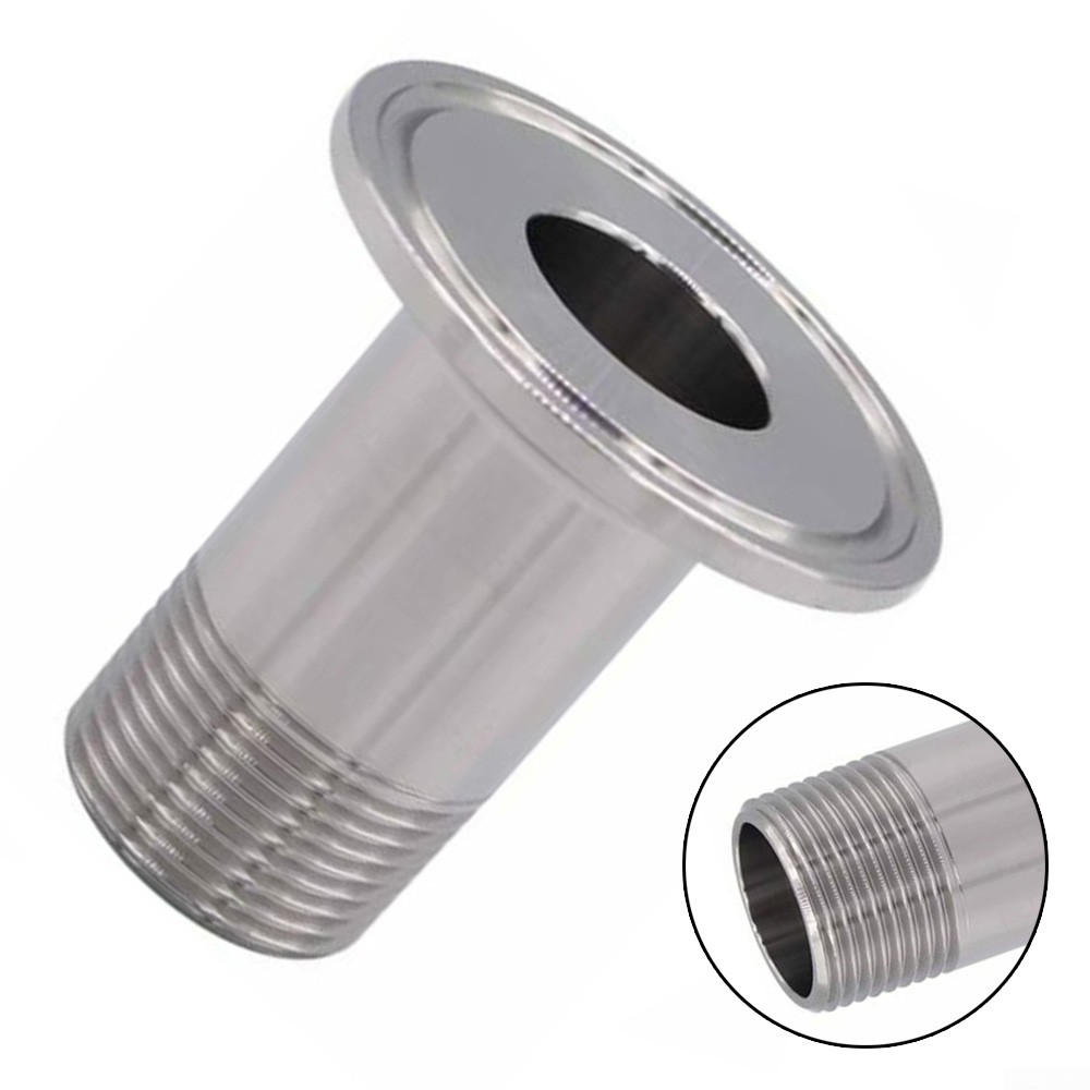 """1.5in Tri Clamp To 3//4/"""" NPT Male Stainless Steel Sanitary Fitting Ferrule Parts"""