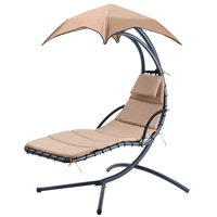 Hanging Rocking Sunshade Canopy Chair Chaise Umbrella