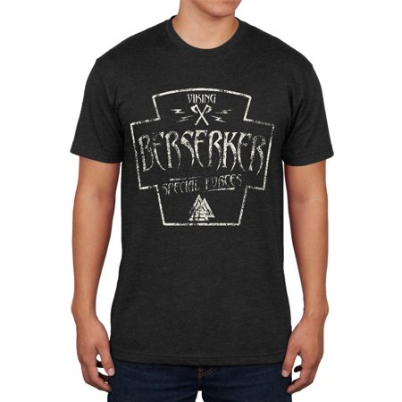 Berserker Viking Special Forces Retro Vintage Mens Soft T -