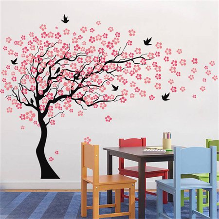 On Clearance Large Wall Tree Baby Nursery Decal Flower Cherry Blossom Sticker Kids Art Decal ()