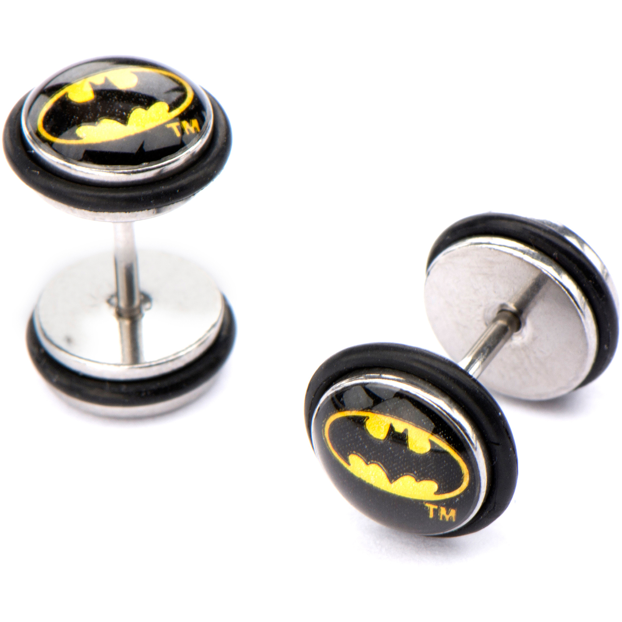 stud steel earrings com ear walmart batman ip plugs