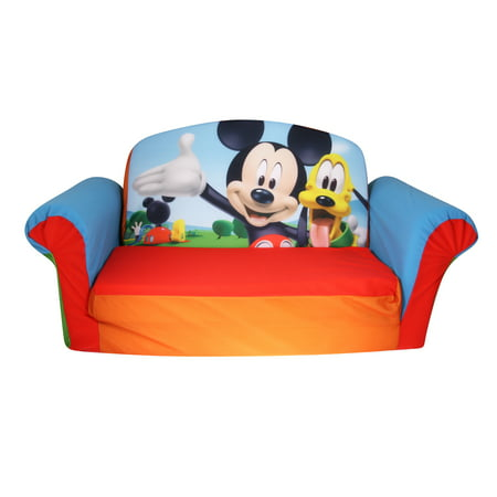 Marshmallow Furniture Children S 2 In 1 Flip Open Foam Sofa Disney Mickey Mouse Club