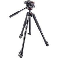 "Manfrotto 190X 67"" 3-Section Aluminum Video Tripod & MHXPRO-2W Fluid Head"