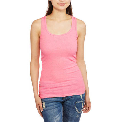 No Boundaries Juniors Racerback Ribbed Tank