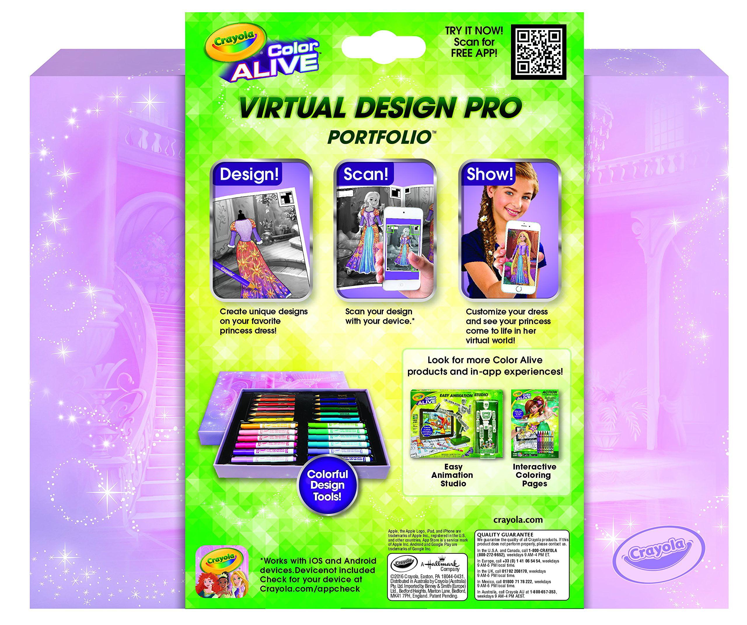 crayola color alive disney princess virtual design pro portfolio
