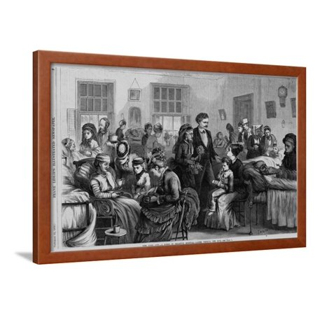 New York City--A Scene in Bellevue Hospital--Ladies Visiting the Sick. Framed Print Wall Art](Party City Bellevue)