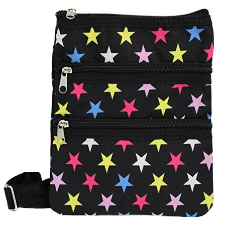 World Traveler Womens 9 Inch Swingpack Purse Bag, Multi Stars, One (Best World Traveler Shoulder Bags)