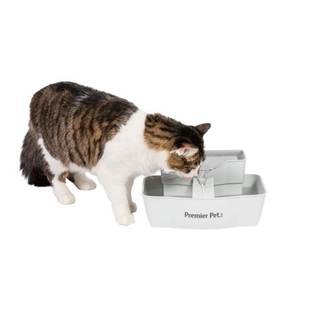 Premier Pet 100 oz. Pet Fountain - Automatic Water Fountain for Dogs and Cats ()