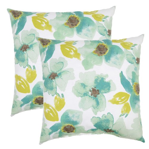 Alcott Hill Sibilla Floral Outdoor Throw Pillow (Set of 2)