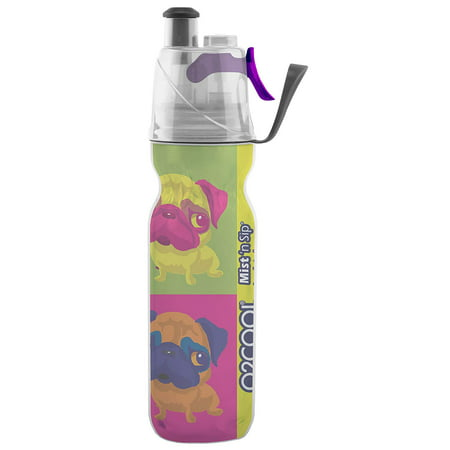 O2COOL Arcticsqueeze® Insulated Mist 'N Sip® Squeeze 20 oz., 2-in-1 Mist 'N Sip® Function, Double-Wall Insulation, Water Bottle, Misting Water Bottle, No Leak Water Bottle, No Sweat Water (Cool Trek Water Bottle)