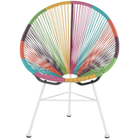 Acapulco Lounge Chair Multicolor With White Base Walmartcom