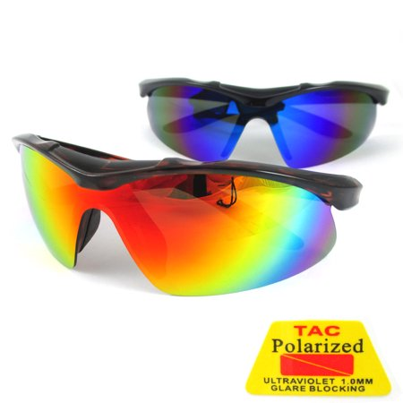 Polarized Sunglasses Mens Sports Cycling Fishing Golfing Running Wrap Glasses ! ()