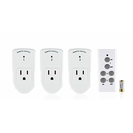 Century Wireless Remote Control Electrical Outlet Switch For Household Appliances  White  Learning Code  3Rx 1Tx