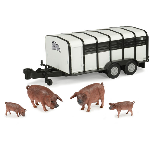 TOMY ERTL Big Farm 1:16 Hog Trailer with Hogs