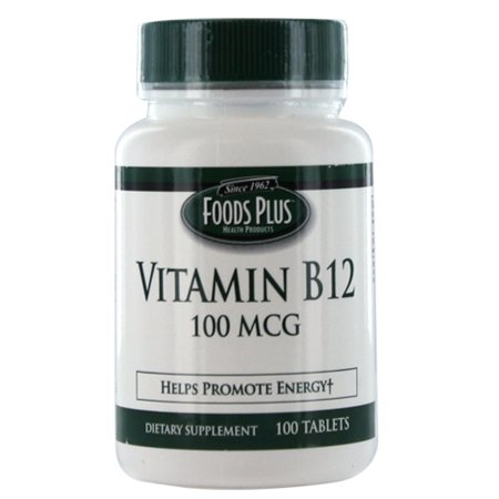 Vitamin B 12 100 Mcg Tablets To Promote Energy By Food Plus   100 Ea