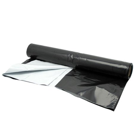 4 Mil Black Poly Film (Panda Film 25 ft. x 10 ft. Black and White Poly Film 5.5ml)