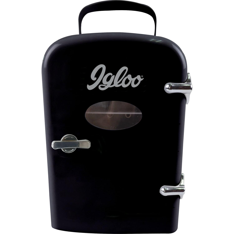 Igloo Mini Beverage Fridge - 6 Cans, Black