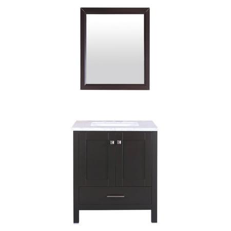Aberdeen 30 in Single Bathroom Vanity Set