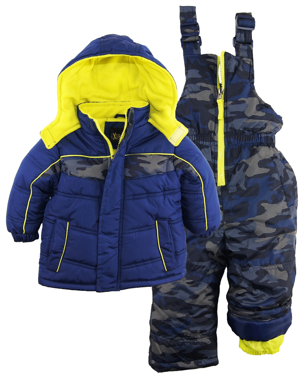 Ixtreme Baby Boys Camo Print Two Piece Snowsuit Ski Bib