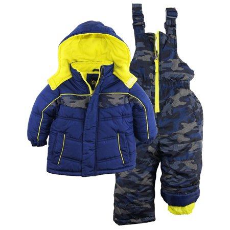 ecc6cf0c30 iXtreme - IXtreme Baby Boys  Camo Print Two Piece Snowsuit Ski Bib Pant Set  - Walmart.com