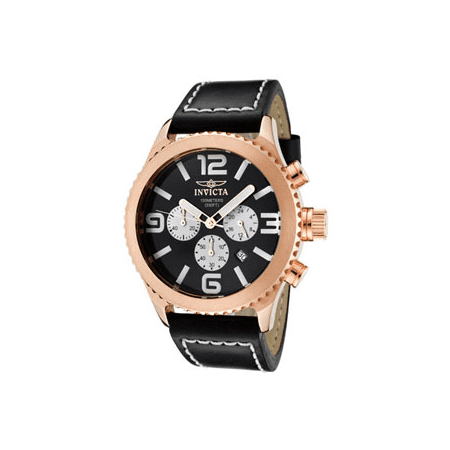 Men's II Chronograph Genuine Leather - Rose Gold/Black ()