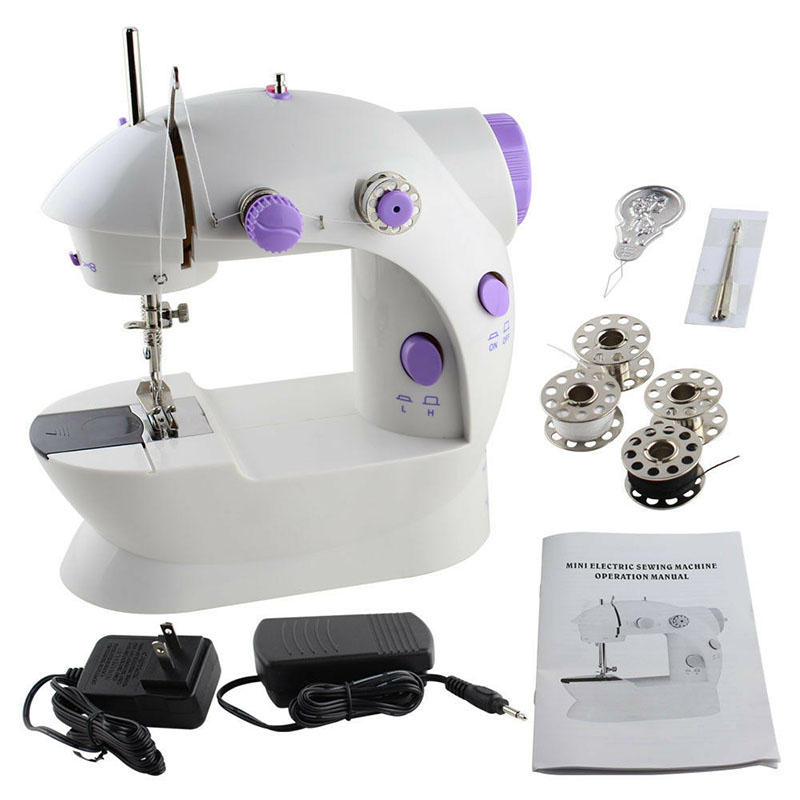 US Electric Portable Sewing Machine Desktop Home Tailor Foot Pedal 12 Stitches