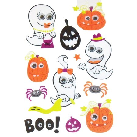 Googly Eye Stickers ~ Halloween Edition (Trick or Treating Ghost Family, Fun Pumpkins and More!; 12 Stickers), This is for a set of Creatology.., By Creatology
