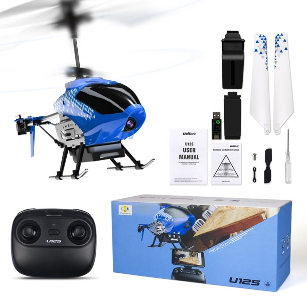 Cheerwing U12s Rc Helicopter Fpv Multiplayer Remote Control Helicopter Aircraft Toys Blue For Kids And Beginners Walmart Com Walmart Com