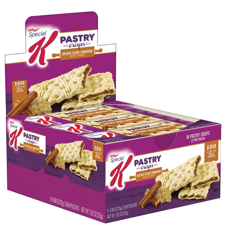 Special K Pastry Crisps, Brown Sugar Cinnamon, 0.88 Oz, 9 Ct