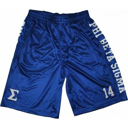 Phi Beta Sigma Divine 9 S2 Mens Basketball Shorts  Royal Blue   M