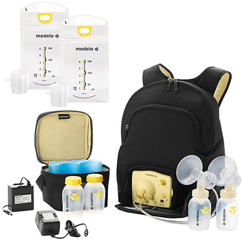 Medela Pump with Backpack & Your Choice Bonus Breastmilk Bags