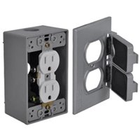 Hubbell Electrical Products FCD35 Gray Duplex Outlet Kit