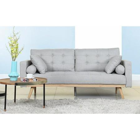 Madison Home Tufted Linen Mid-century Modern Sofa