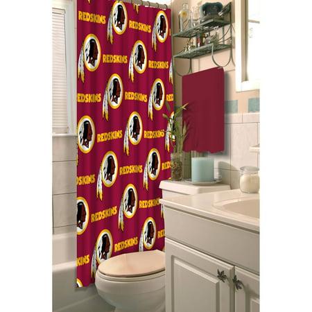 NFL Washington Redskins Shower Curtain, 1 Each