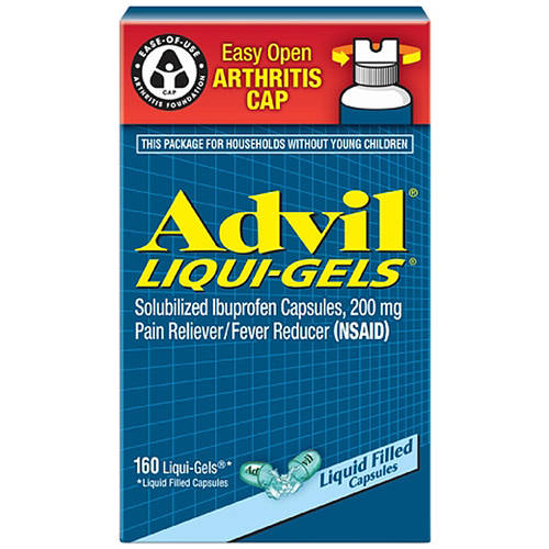 Advil Liqui-Gels Easy Open Arthritis Cap Pain Reliever / Fever Reducer (Ibuprofen), 200 mg 160 count