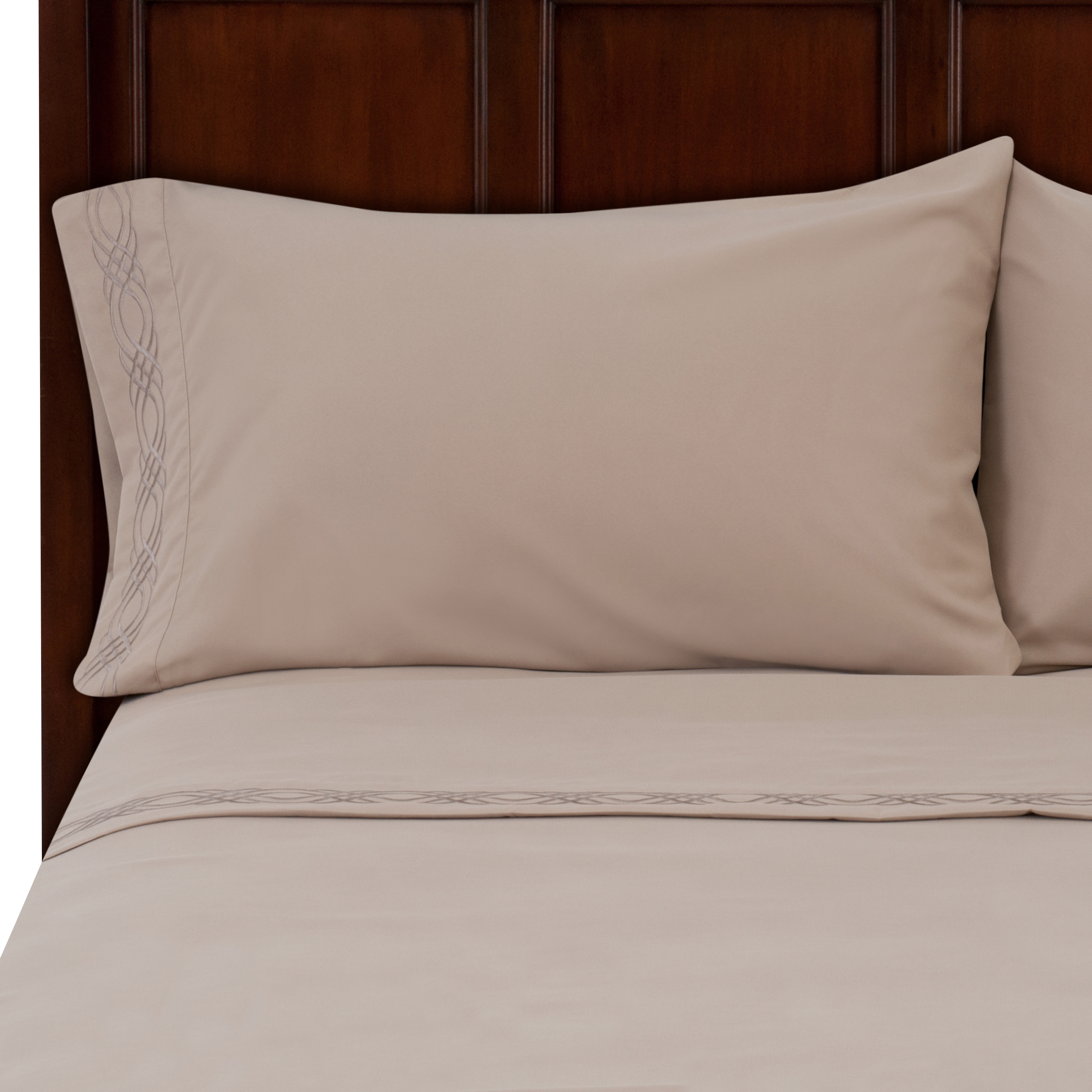 Details about  /Better Homes And Gardens Luxury Microfiber Embroidered Sheet Set Twin
