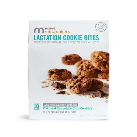 Milkmakers Chocolate Chip Lactancia mordeduras de galletas de 10 paquetes