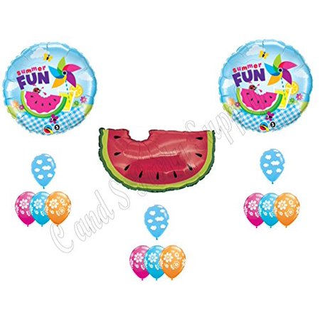 SUMMER FUN WATERMELON PICNIC Birthday Balloons Decoration Supplies Party Cookout BBQ (Bbq Party)