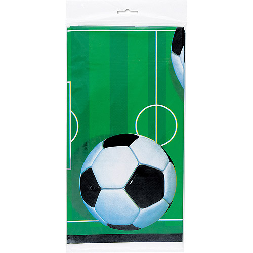"Plastic Soccer Table Cover, 84"" x 54"""