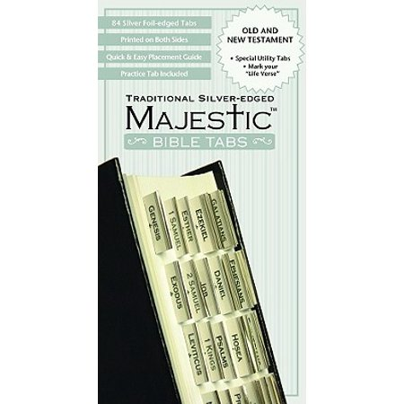 Majestic Traditional Silver-Edged Bible Tabs (Other) Tab Book Part